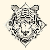 Tiger Zentangle Stock Photo