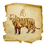 Tiger Zodiac icon Stock Photography