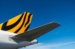 Tigerair空中客车A320-200在Coolangatta机场 图库摄影