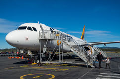 Tigerair Airbus A320-200 at Coolangatta airport. Stock Photo