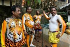 Tigerdansprocession fotografering för bildbyråer