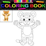 Tigerfärgläggningbok royaltyfri illustrationer