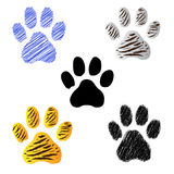 Tigerfootprintcollection Stock Photography
