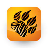 Tigerfotspår Arkivbilder