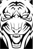 Tigergesicht lizenzfreie abbildung