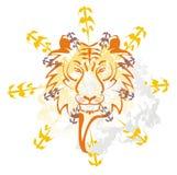 Tigergrafitti Arkivbild
