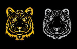 Tigerhauptschattenbild Stockfotografie