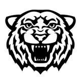 Tigerhuvudtatuering vektor illustrationer