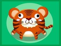 Tigerkarikatur Lustige Karikatur- und vektortierzeichen Stockfotos