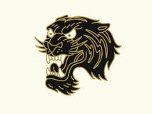 Tigerlogo Arkivfoto