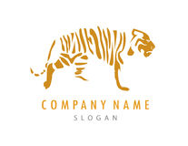Tigerlogo Stockfotografie