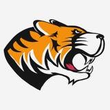 Tigerlogovektor vektor illustrationer