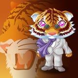 Tigermafiacharakter stockfoto