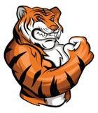 Tigermaskot stock illustrationer