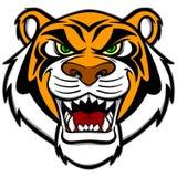 Tigermaskot royaltyfri illustrationer