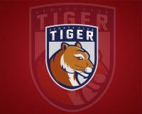 Tigermaskottchen elegant Lizenzfreie Stockfotos