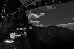 Tigerns redekloster av Bhutan Arkivbilder
