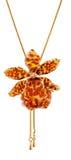 Tigerorchidee im Gold Stockfotos