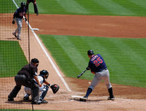 Tigers game July 11 2010,  Twins Jim Thome. DETROIT, MI - JULY 11: Jim Thome of the Minnesota Twins at bat during a game against the Detroit Tigers on July 11 Royalty Free Stock Images