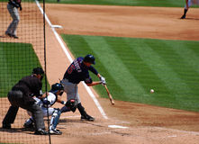 Tigers game July 11 2010,  Twins' Michael Cuddyer. DETROIT, MI - JULY 11: Michael Cuddyer of the Minnesota Twins at bat during a game against the Detroit Tigers Stock Image