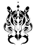 Tigers head tattoo trible Stock Images