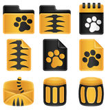 Tigers Icon Set Royalty Free Stock Photography