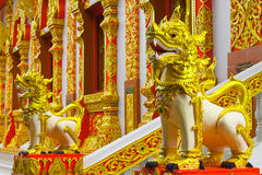 Tigers in legend of Thai Buddha Royalty Free Stock Photography