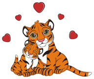Tigers in love Stock Photography