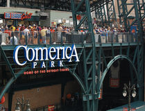 Tigerspiel 11. Juli 2010, Parkzeichen Lizenzfreies Stockbild