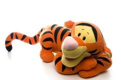 Tigerspielzeug des angefüllten Tieres Stockbild