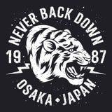 Tigert-skjorta design 014 fotografering för bildbyråer