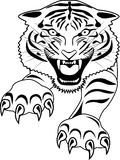 Tigert tattoo Royalty Free Stock Photos