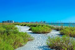 Tigertailstrand in Marco Island stock afbeelding
