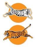 Tigertecken stock illustrationer
