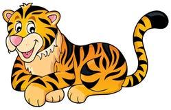 Tigertemabild 1 royaltyfri illustrationer