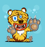 Tigertierjägerdesign Stockbild