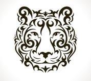 Tigervektor-Tätowierungsillustration Lizenzfreie Stockfotografie