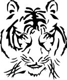 Tigeryear_head. Vector illustration of bengal tiger head Royalty Free Stock Images
