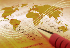 Tiges de commerce mondial photos stock