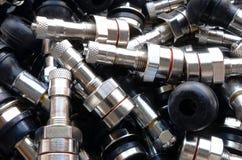 Tiges de valve de pneu Photo libre de droits