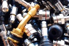 Tiges de valve de pneu Photographie stock libre de droits