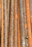 Tiges en acier rouillées Image stock
