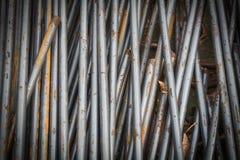 Tiges ou barres en acier employées pour renforcer Image stock