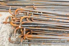 Tiges ou barres en acier employées pour renforcer Photo stock