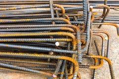 Tiges ou barres en acier employées pour renforcer Photos stock