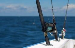 Tiges profondes de pêche maritime Images stock