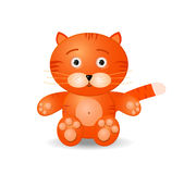 Tiget toy icon Royalty Free Stock Photo