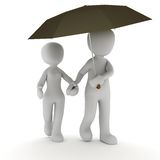 Tigether under rain Royalty Free Stock Images