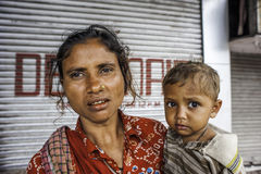 Tiggare på gatan i Kolkata, Indien Royaltyfria Bilder