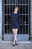 Tight Black Dress Royalty Free Stock Photo
